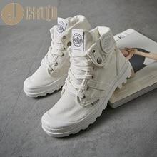 JCHQD 2019 موضة عالية كبار أحذية رياضية حذاء قماش حذاء كاجوال المرأة الأبيض شقة الإناث سلة الدانتيل يصل الصلبة المدربين Chaussure