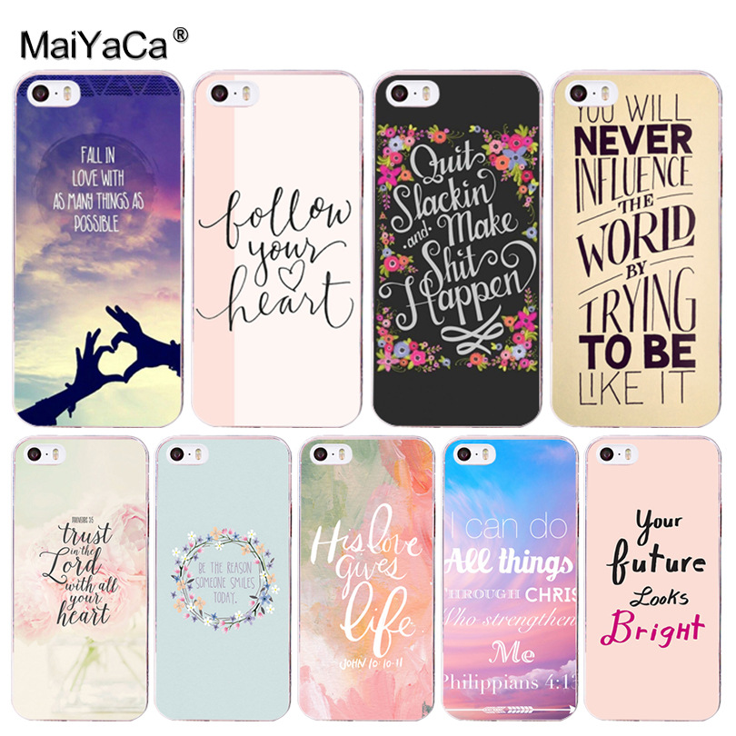 MaiYaCa Proverb Phrase Motto Coque Shell Phone Case for iphone 11 Pro 8 7 6 6S