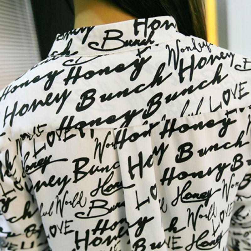 Impreso Camisas Camisa ¡ A Caballo Manga Nuevo De Blusas Larga Las b Gasa Verano Moda Mujeres qqw8OB