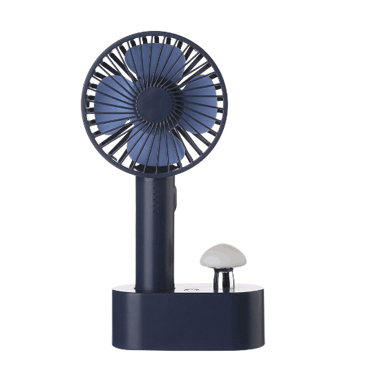 Air Cooling Fan Mushroom Light Portable Mini Fan 5 Speed Natural Wind USB Handheld Air Cooler Fan for Home Color : Pink