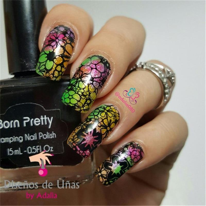Born Pretty 07 5 5cm Round Nail Art Stamp Template Mini Flower