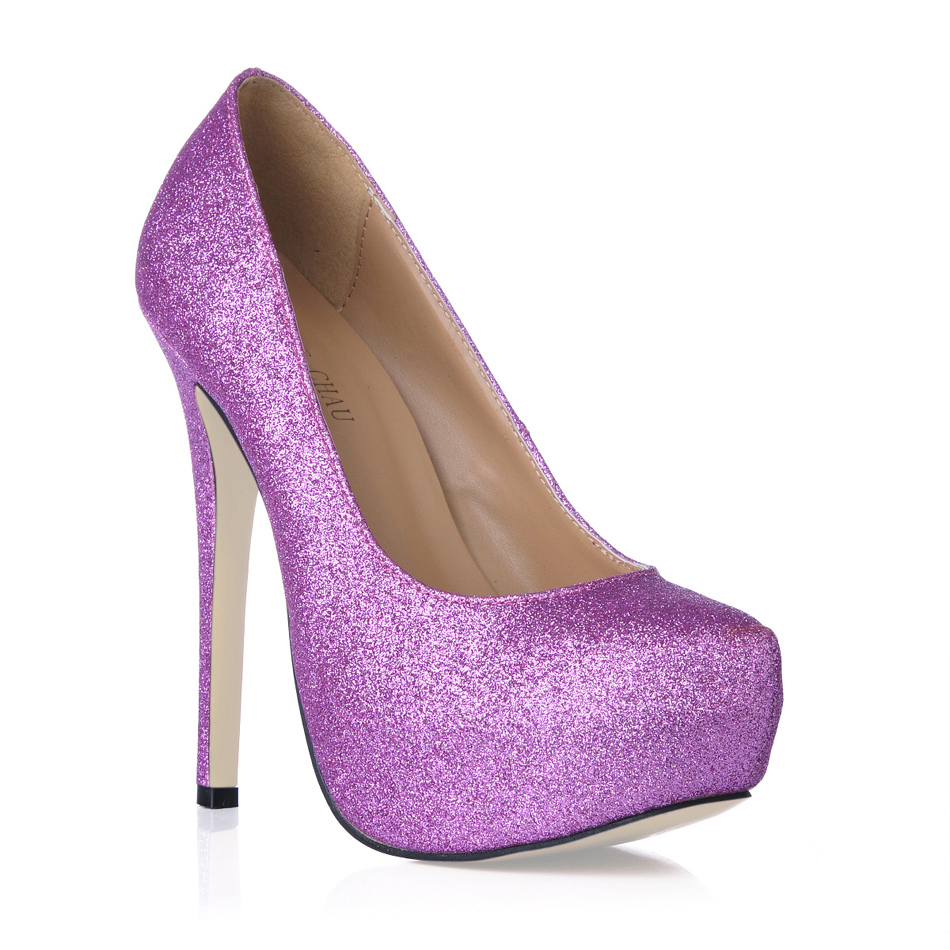 CHMILE CHAU Gold Glitter Sexy Wedding Party Shoes Women Round Toe Stiletto High Heels Bridal Ladies Pumps Zapatos Mujer 3463B a3 in Women 39 s Pumps from Shoes