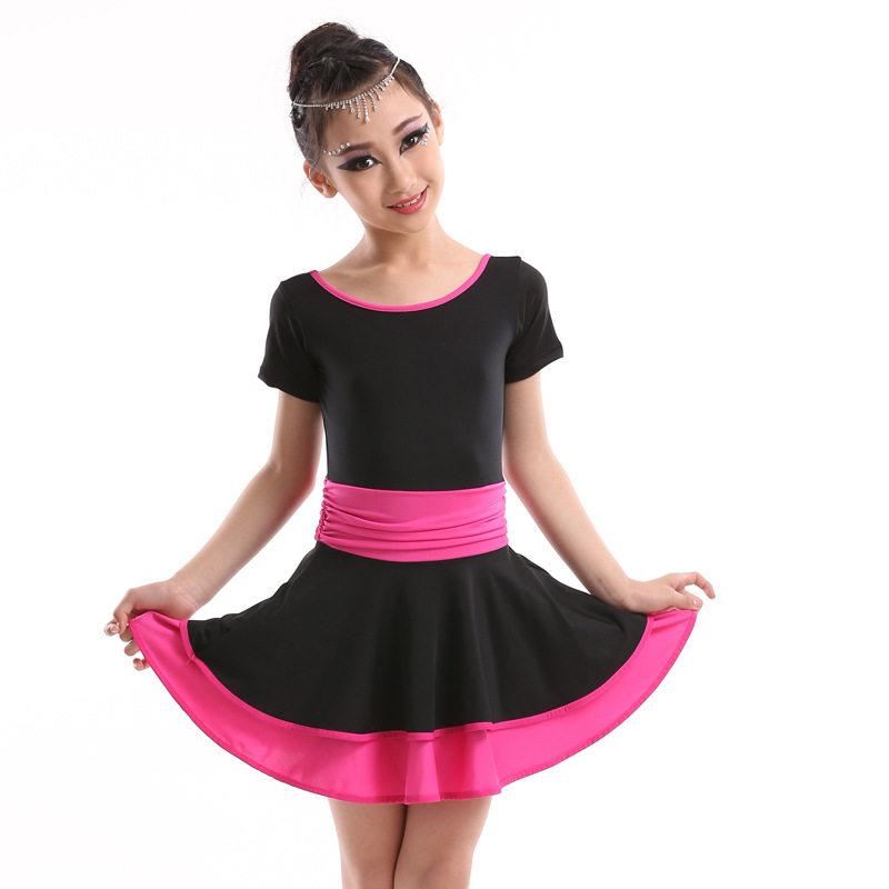 Latino Disfraces 3-16 Years Girl Kids Tango Dress Children Dancing Dress Samba Rumba Salsa Dance Costumes Latin Ballroom Dresses