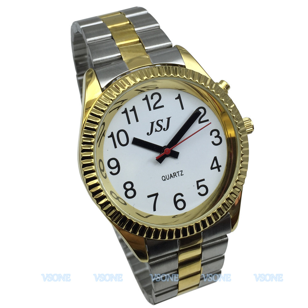 English Talking Watch , Talking Date And Time, White Dial, Black Number, With Alarm Function