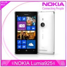 """Оригинальный телефон Lumia 925 Windows , телефон 4.5 """" 1 ГБ 16 ГБ камеры 8.7MP Wifi GPS 4 г nokia Lumia 925 мобильных телефонов бесплатная доставка"""