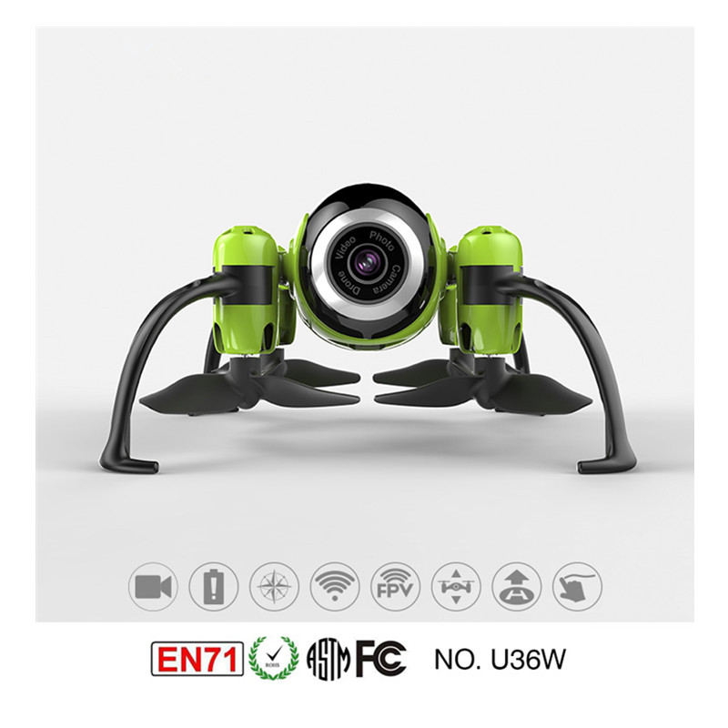 UDI U36W 2.4 Ghz WIFI & FPV mini drone avec caméra, sensibilité gyroscopique réglable, mini avion Gyroscope intégré (vert)