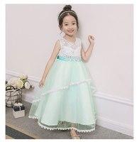 Flower Girl Dress Summer Clothes Girl 2017 Baby Girl Wedding Veil Dresses Kids's Party Wear Costume For Girl Children Clothing