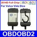 Полный Чип Для Последним 2014D Volvo Vida Dice Диагностический Инструмент Нескольких Языков Для Volvo Кости Pro Vida Dice Зеленый Доска Полный функция