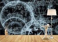 Simple Abstract 3d Wallpaper Murals Blackboard Math 3d Stereoscopic Nonwoven Living Room Background High Definition Wallpaper