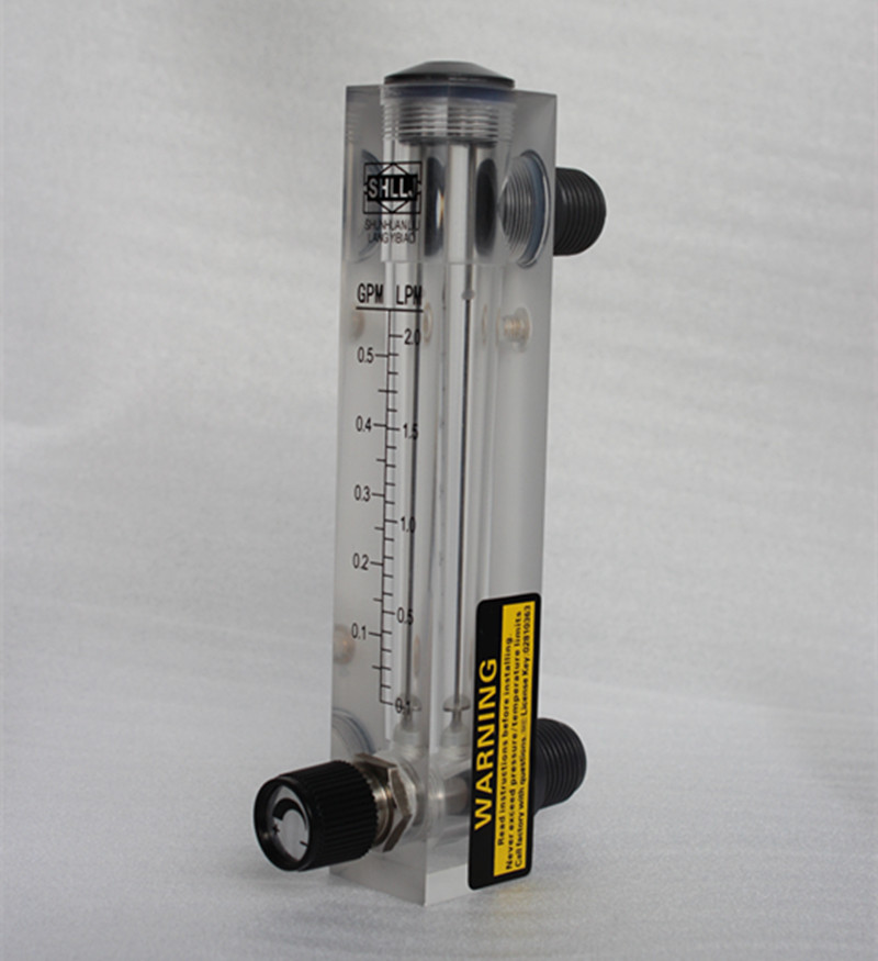 LZM-15 panel type flowmeter flow meter Indicator Counter with controller valve liquid G1/2 DN15 0.1-0.5GPM 0.1-2.0LPM 2-18LPM  lzm 6t 2 20lpm 4 40scfh panel type acrylic flowmeter flow meter with adjust valve bass fitting female g1 4 male m18 1 5