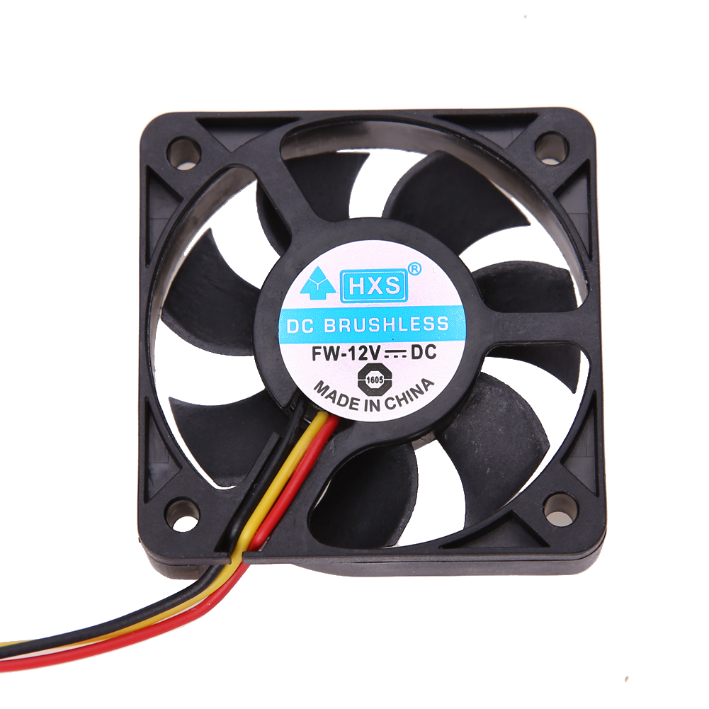 3 Pin CPU 5cm Cooling Cooler Fan Heatsinks Radiator 50mm 10mm for PC Computer 12V DC Brushless Fan