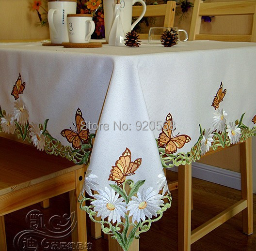 New free shipping hot sale embroidered tablecloth home for Manteles de mesa cuadrada