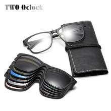 TWO Oclock Magnet Sunglasses Men Polarized Clip On Sunglass