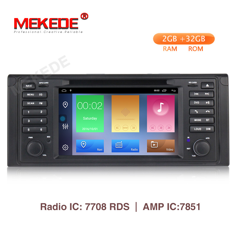 MEKEDE Android 9.1 2+32G car dvd for BMW e53 E39 X5 CAR gps radio wifi multimedia player support DVR View camera