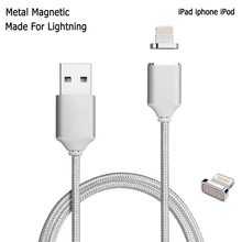 Magnetic Nylon Braided High Speed Charging Cable For iPhone 8 Plus 7 6Plus Fast Lightning Micro USB