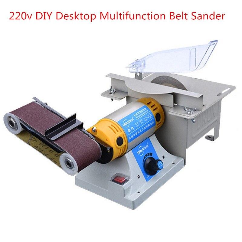 220V Belt Sander Machine Mill Woodworking Polishing Cutting Machine Can Polishing Jade Stone Sander Power Tools More Standards