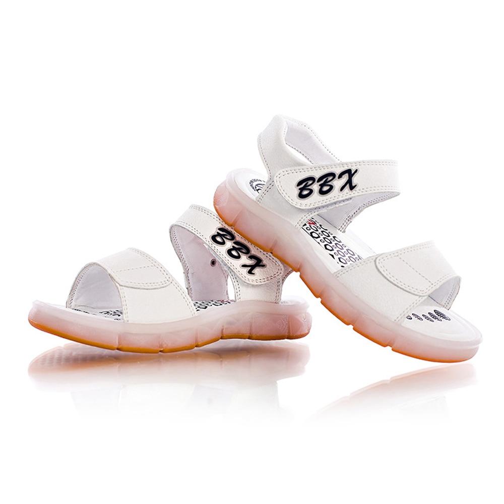 New arrival summer light sandal USB charging children shoes LED nightlights girls boys shoes TPR outsole beach Sandals LT1083