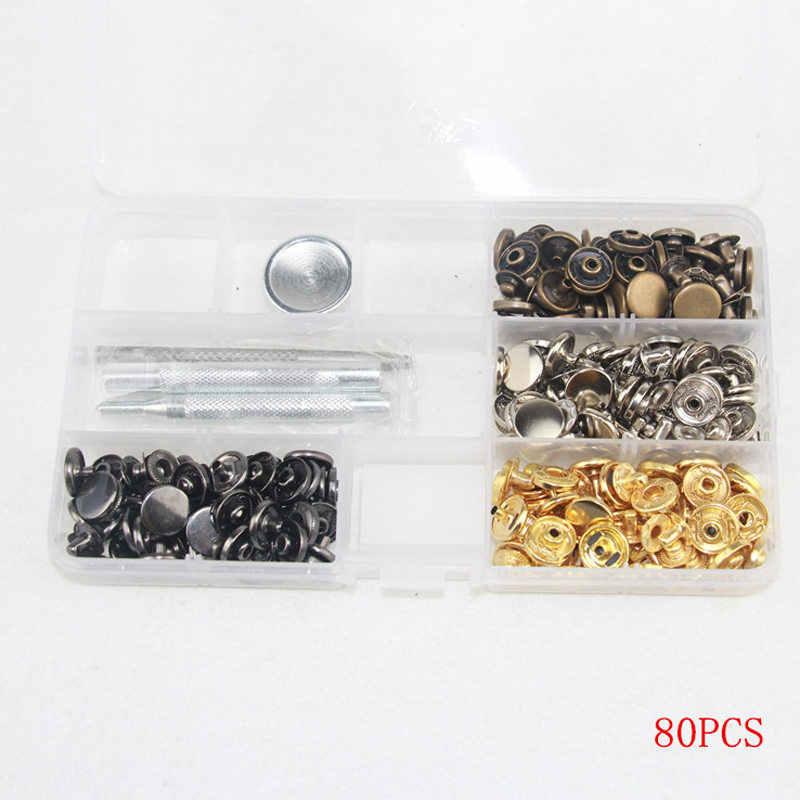Набор крепежа с защелкой металлические латунные кнопки для одежды металлические прессованные Заклепки Шпильки крепежные детали инструмент для одежды куртки