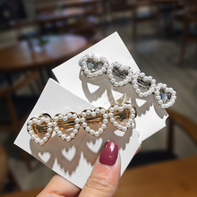 купить Cute Love Heart Pearl Metal Hair Clip Gold Silver Color Hairpin Barrettes Hairgrip Headband Hair Accessories for Women Girls по цене 15.65 рублей