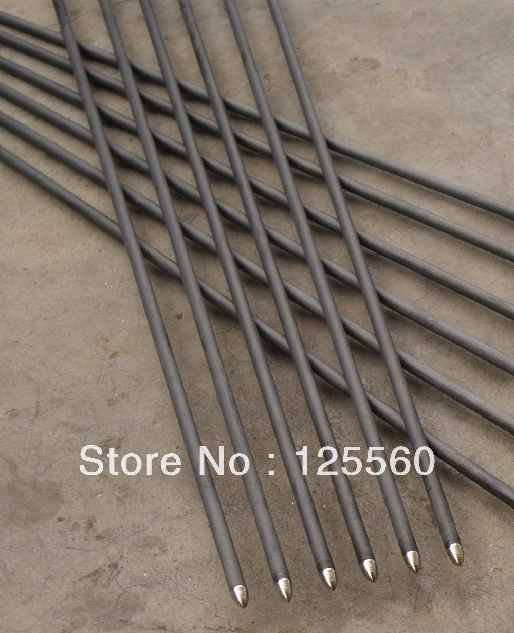 Gratis verzending 12 stks carbon pijl kalkoenveer ID 4.2mm as lengte - Jacht - Foto 2