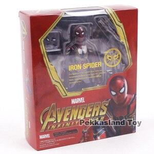 Image 5 - SHF wojna w nieskończoności Avengers żelazny pająk Spiderman PVC figurka Model kolekcjonerski