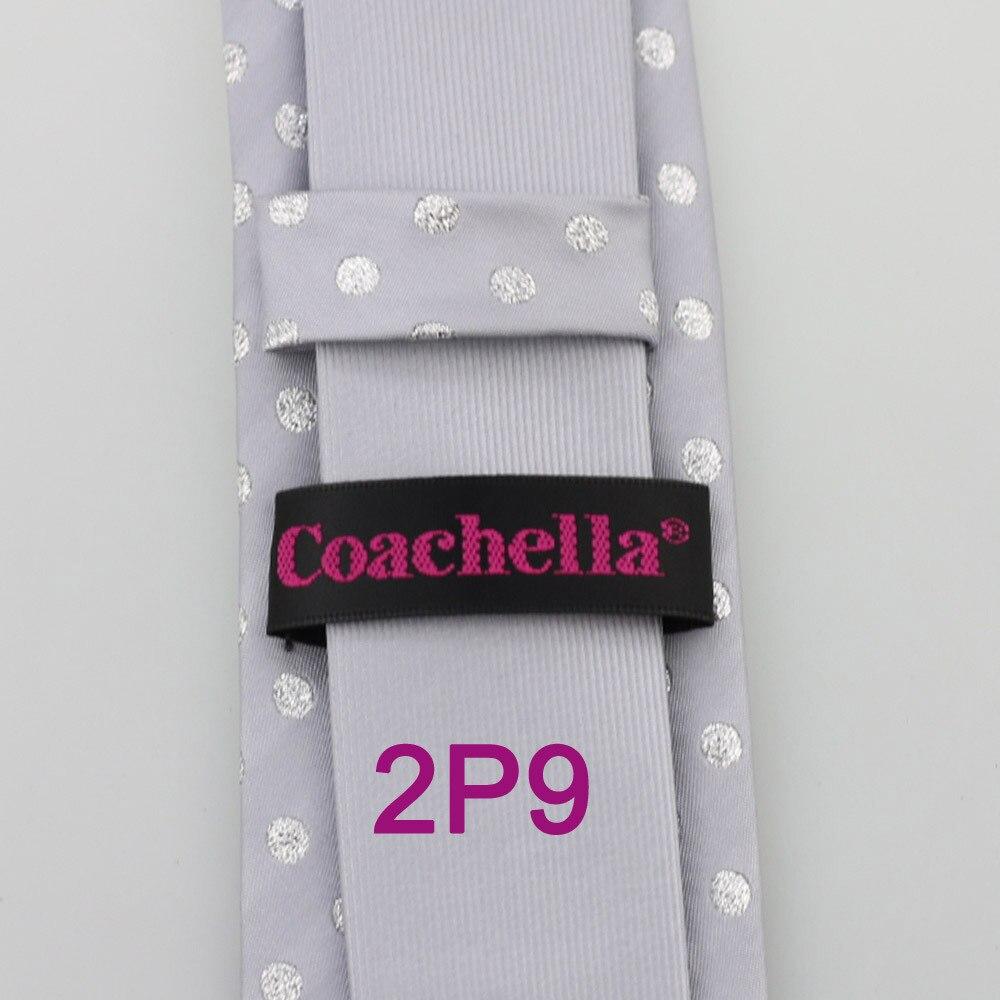 Yibei Coachella Галстуки серый галстук тонкий контраст узел с Серебряный горошек шеи Галстуки жаккардовые галстуки скинни из микрофибры