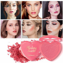 LISM Lady 8 Colors Love Blush Natural Long Lasting Brighten Skin Face Concealer  Matte Rouge Powder Cake Cosmetics