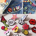 10Pcs /Set 2016 New Arrival Lovely Fruit Crow Duck Lips Brooch Pin Badges Combination Buckle Collar Shirt Clip Brooch Sets