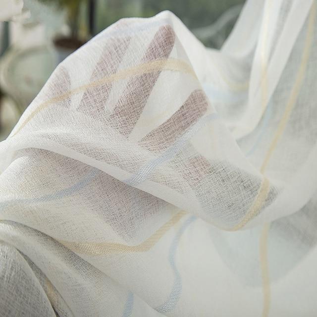 Addensare Bianco Schermi Tenda Per Soggiorno Balcone Moderno A Righe Tenda Tulle Camera Da Letto Finestra Cortinados De Sala wp377 & 30