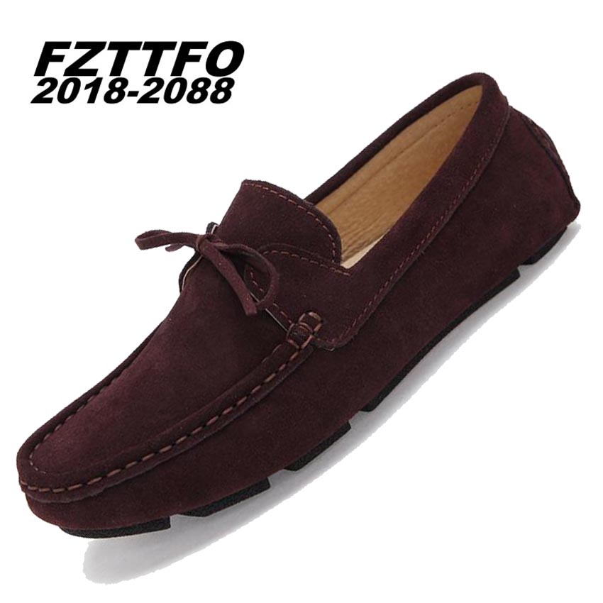 Mens 100 Genuine Suede Leather Driving ShoesNew