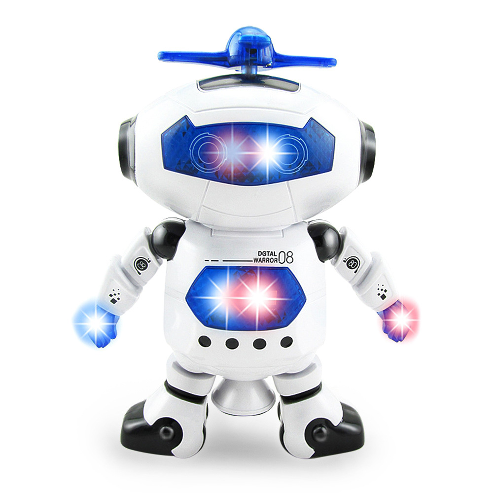 High Quality 360 Rotating Space Dancing Robot Musical Walk