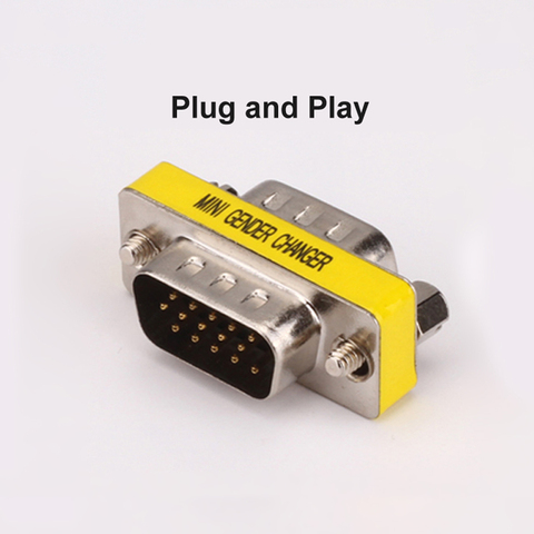Plug and Play VGA to VGA Adapter Male to Male HD15 Pin VGA Gender Changer Convertor for Laptop Computer Projectors HDTV Islamabad