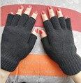 Осень и зима женская вязаная половины пальцев перчатки девушки теплый пальцев трикотажные перчатки женские водительские перчатки