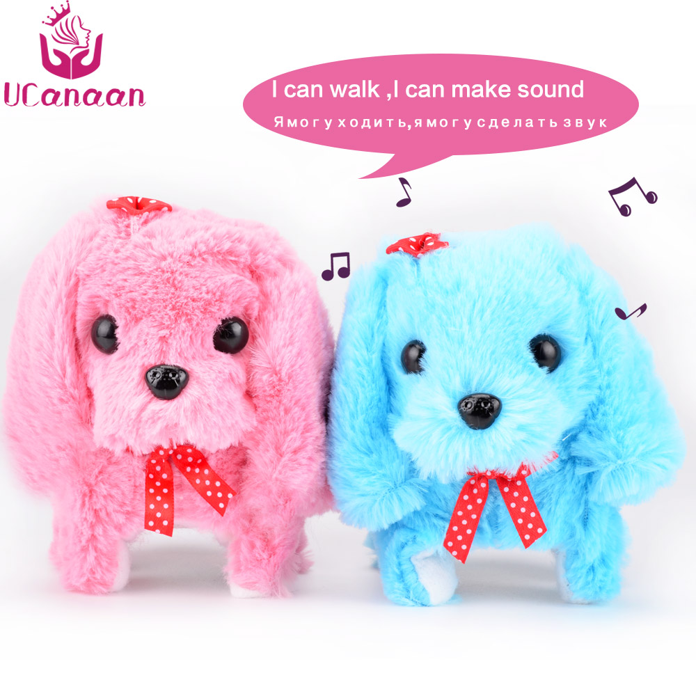 UCanaan Electronic Interactive Toys Education Toys Walking Sounding Robot Dog Toys Plush Dog Best Gifts for Children