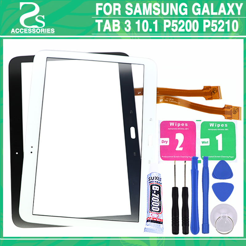 New P5200 Touch screen For Samsung Galaxy Tab 3 10.1 P5210 P5220 Touch Screen Digitizer Panel Sensor Glass+ tool