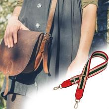 Striped Belt Bags Strap Accessories For Women Adjustable Shoulder Hanger Handbag Straps Decorative Chain Bag Accessories цена