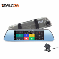 Dealcoo Car Mirror Camera Dash Camera WIFI Car DVR Android Mirror Rearview Camera HD GPS Navigation Dual Lens Dashcam Registrar
