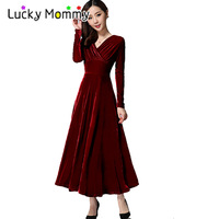 6 Color V Neck Long Maxi Maternity Party Dress Prom Maternity Clothes For Pregnant Women Long