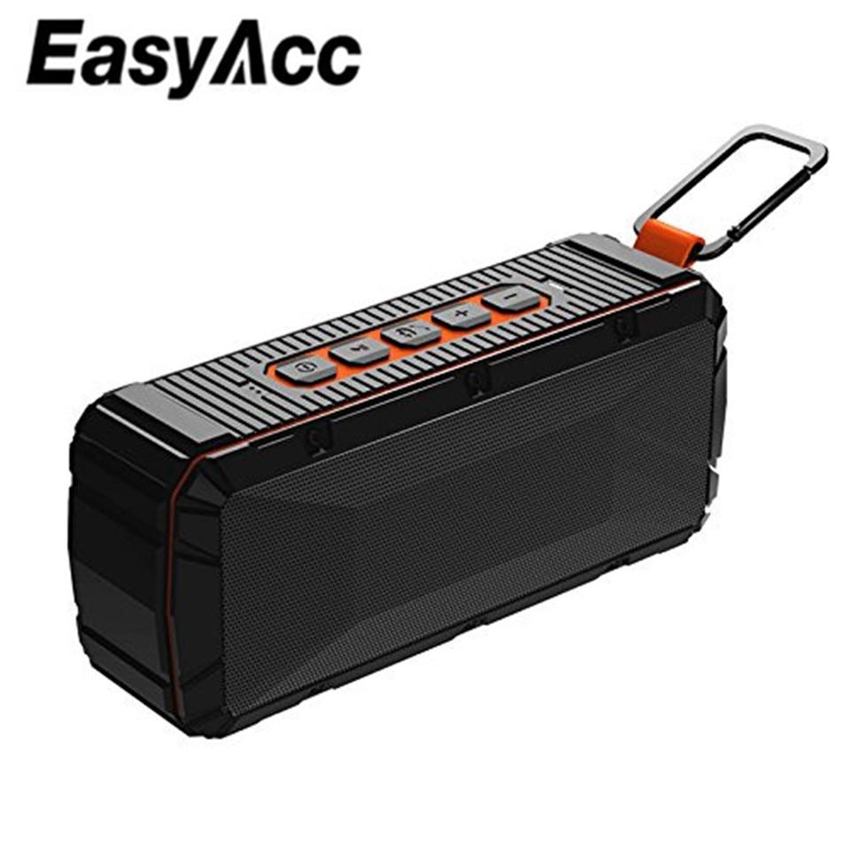 EasyAcc V3 Tragbare Wasserdichte Bluetooth 4,2 Lautsprecher mit Mikrofon, Micro SD Karte USB Sticks IPX6 für Samsung Xiaomi