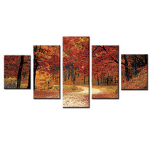 Top Wall Deocr Canvas Painting 5 Pcs Beautiful landscape series Modern Printed Oil Pictures Beauty In Home Living Room
