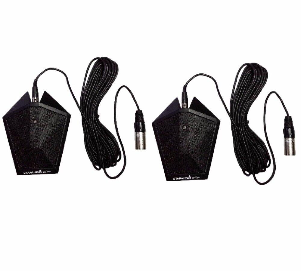 STARAUDIO 2шт Профессиональный проводной Однонаправленный границы черный конденсаторный микрофон микрофон СМА-100