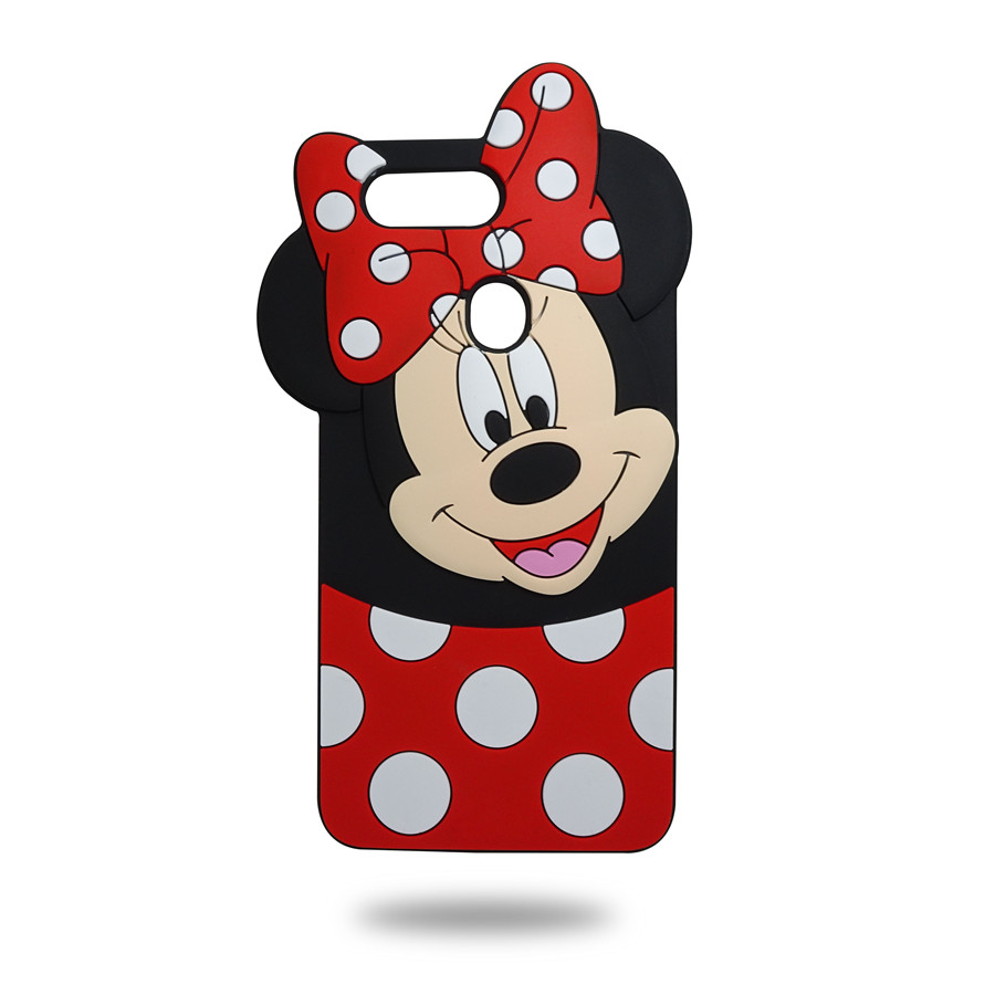 Case For OPPO F7 Case 3D Lovely Cartoon Laughing Minnie Case For OPPO F7 Cover For OPPO F7 Fundas Indian Version