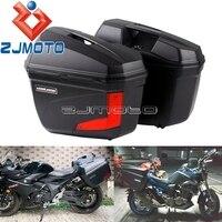 Universal Motorcycle Saddlebag LED Side Panniers For Honda Yamaha Yamaha Suzuki BMW Custom Luggage Side Case Tail Top Boxes