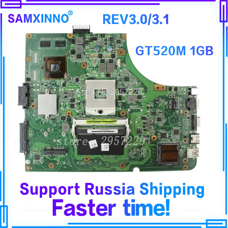 K53SV Motherboard GT520-REV3.0/3.1 For ASUS A53S K53S X53S P53S K53SJ K53SM laptop Motherboard K53SV Mainboard K53SV Motherboard original for asus x53s a53s k53sj k53sc p53s k53sm k53sv laptop motherboard 2 1 2 3 3 0 3 1 ddr3 mainboard fully tested