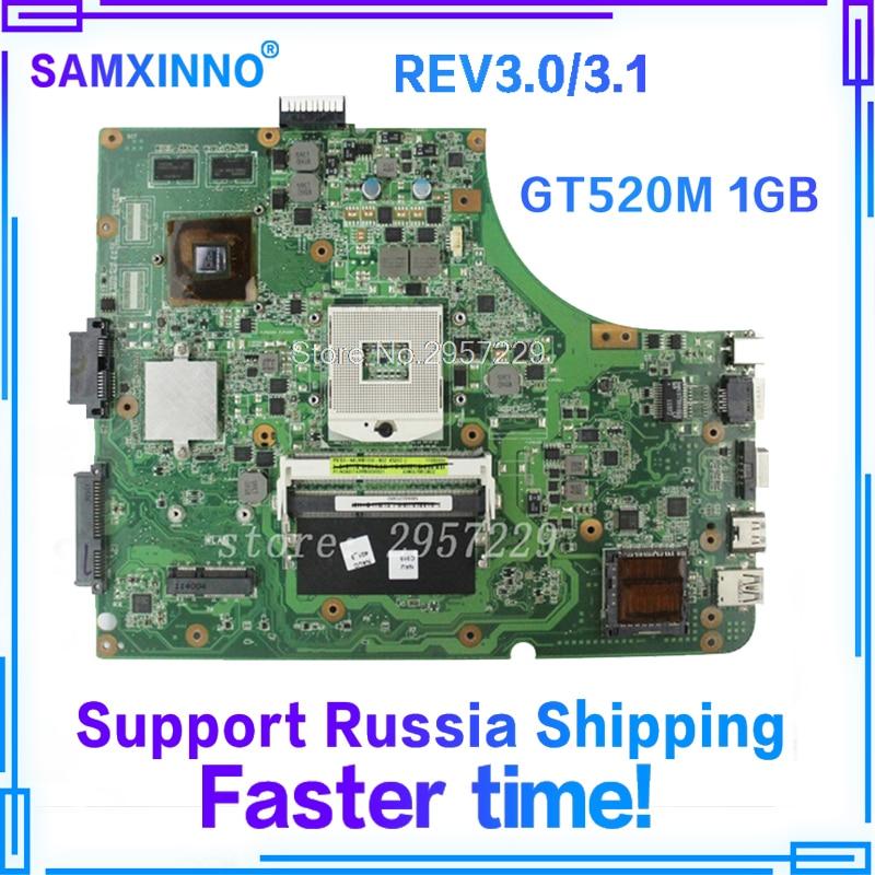 K53SV Motherboard GT520-REV3.0/3.1 For ASUS A53S K53S X53S P53S K53SJ K53SM laptop Motherboard K53SV Mainboard K53SV Motherboard free shipping k53sv gt540m 2gb rev3 0 usb 3 0 mainboard for asus k53s x53s a53s k53sv laptop motherboard p n 60 n3gmb1a00 a02