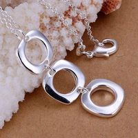 XLP053 Wholesale silver plated Pendant,Factory price 925 stamped fashion jewelry Three Quartet /atjajkqa