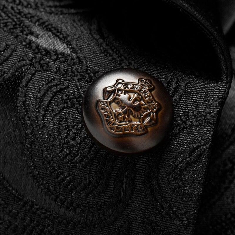 Loldeal degli uomini Floreale Del Vestito Da Partito del Vestito Dentellato Risvolto Alla Moda Giacca Giacca Sportiva di Nozze Prom Tuxedo - 3