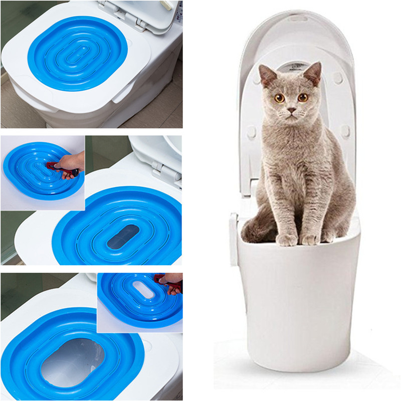 New Creative Cat Toilet Training Kit Plastic Cat Litter Tray Wc Pet Toilet Trainer Litter Box Cleaning Supply For Cat Puppy
