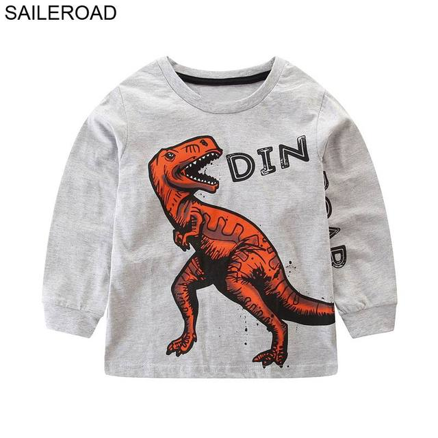 d738a785c0cd SAILEROAD 1-6Years 3D Mouth Dinosaur Clothes Bobo Choses Autumn 2018 Hug Me  Dinosaur Enfant T Shirt Baby Boy Long Sleeve tshirt