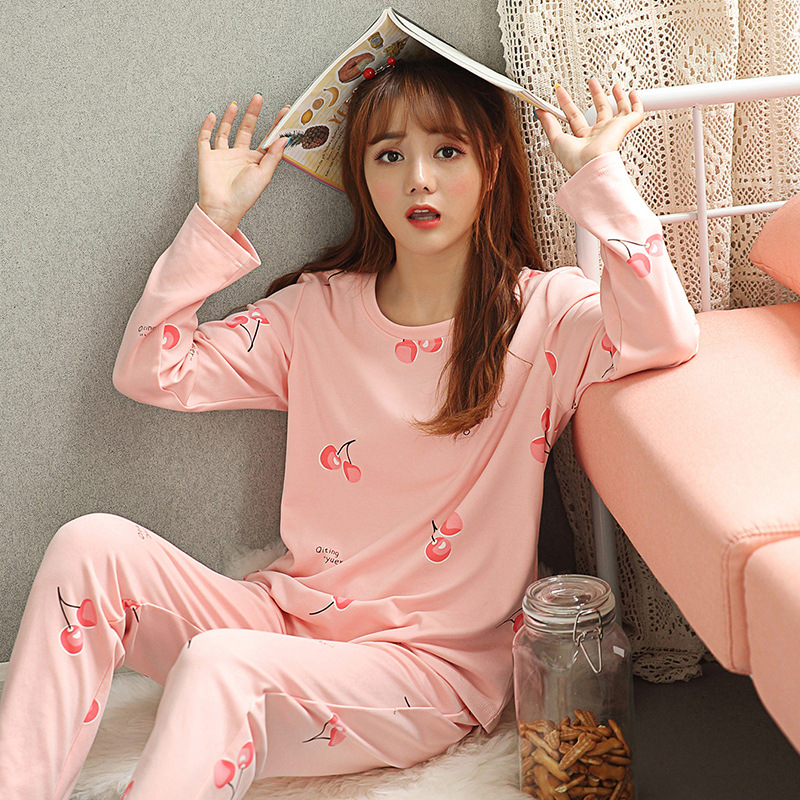Womens pajamas sets Women's Sleepwear Sexy cotton Pajama Set Black Lace O-Neck Sleepwear 2 Pieces Pyjama Set Sleep Lounge